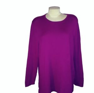 J Jill Boxy Tunic Length Pullover Sweater 2X